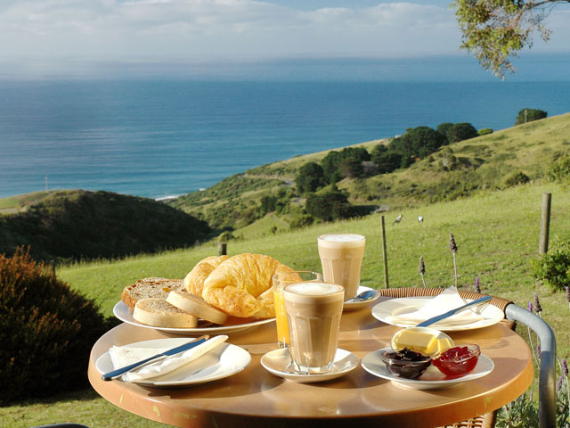 A Smaller Things breakfast - not really that small - and the view is gorgeous no matter which room you're in